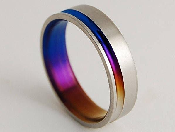 Wedding Band Titanium Ring Promise Ring Titanium Wedding Band