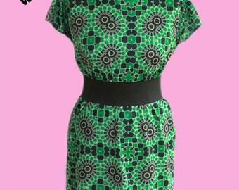 Seventies Wallpaper  Dress - Custom printed fabric!