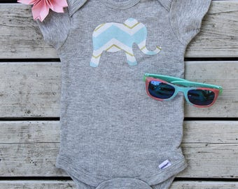 Elephant Baby Onesie® - Animal Baby Onesie® -  Baby Shower Gift -  More Fabric Available
