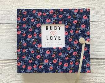 BABY BOOK | Rifle Paper Co. Rosa Floral Navy Album