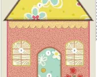 """Applique house machine embroidery download 5 different sizes ( 8 X10   7x8   6x7  """"5x6  """"4X5"""" hoop)"""