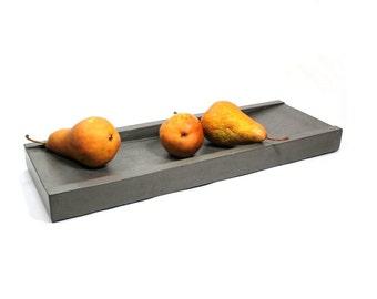Dark Gray Concrete Tray