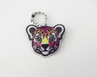 Lisa Frank Hunter the Leopard Cub Charm Pendant