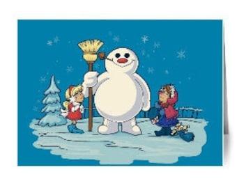 Let's Build A Snowman Notecard (Item 05-064)