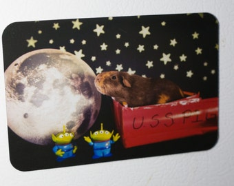 Fridge Magnet: Guinea Pig in Space