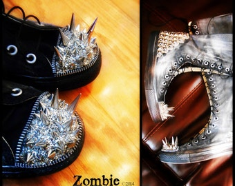 Knee High Studded Spiked  Sneakers