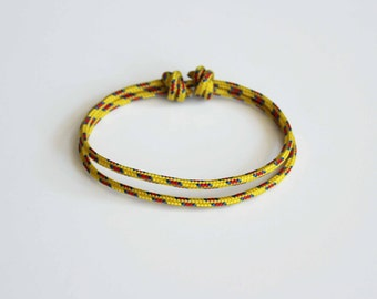 Simple Rope Bracelet - Yellow