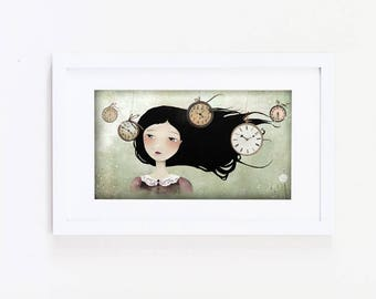 Time Flies... - Open Edition Print - Whimsical Art