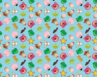 SALE!! Disney Fabric Emojis Fabric Toy Story Fabric From Springs Creative 100% Cotton Fabric