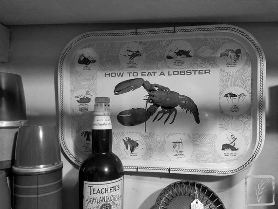 """""""How to Eat a Lobster,"""" Rosie's Vintage, Huntington, New York, 2017."""