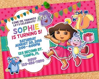 Dora invitations Etsy