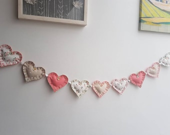 Vintage style heart garland