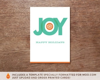 Printable Christmas Card - Instant Download - Christmas Card PDF - Big Joy Christmas Card Template - Print at Home Christmas Card - DIY Card
