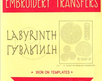 Sublime Stitching Embroidery Patterns   Reusable Iron On Transfer Embroidery Designs, Modern Embroidery Design for Meditation - Labyrinth