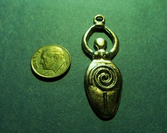 Fifty Pewter Wiccan  Fertility Goddess Pendants