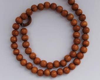 "Beads, 16"" Strand, Bayong Wood or White Wood, 8mm"