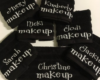 FUN GIFT personalized Washcloth or Hand Towel, Make up Eraser wash cloth, Makeup remover cloth , reusable Makeup remover