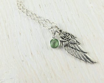 First Communion Gift Angel Wing Necklace Jewelry Loss Of Loved One Infant Loss Jewelry Funeral Gift