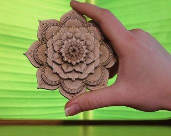 Little Bananaflower Mandala|Designer Wall Art|Unique Wooden Mandala|Personalized Mandala|Sacred Geometry|Lasercut Multilayer Wooden Mandala