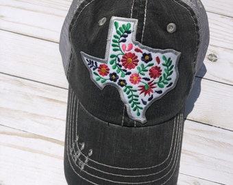 TX Floral Trucker Cap