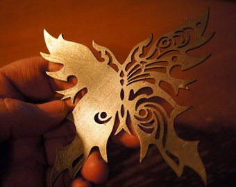 Butterfly Ninja Throwing Star Ornament - Into the Badlands - Perfect for Cosplay