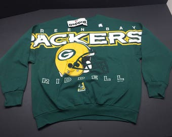 NWT Vintage 1997 green bay packers Riddell crewneck sweatshirt mens XL nfl football helmet logo