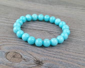 Energy mala bracelet precious stones amazonite 8mm
