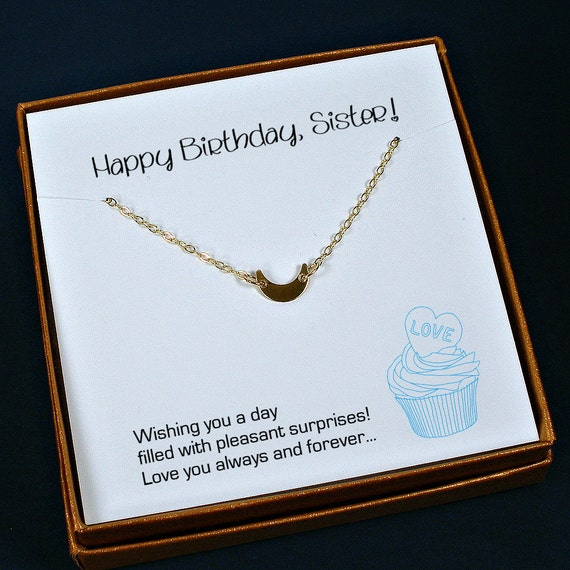 Items Similar To Sister Birthday Gift, Sister Necklace