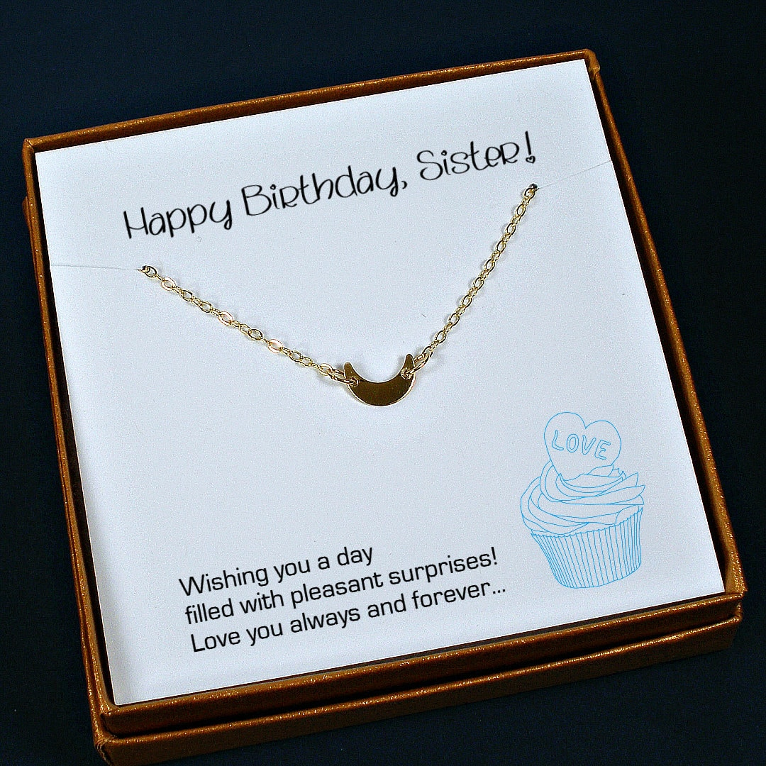 Sister Birthday Gift Necklace Ideas