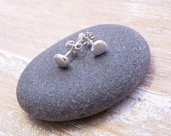 Sterling Silver Ingot Stud Earrings, Silver Studs, Silver Post Earrings