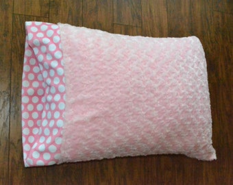 Pink Minky Pillowcase.