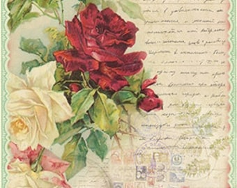 Floral Scrapbooking Paper Decoupage Paper A4 Decoupage supplies Craft Projects Floral Patterns #454