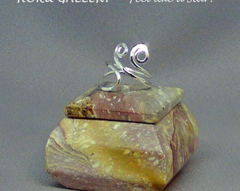 Wirewrapped Sterling Silver, Adjustable Ring - Hand Crafted Artisan Jewelry by Hoku Gallery