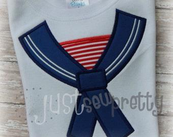 Sailor Boy Collar Machine Embroidery Design
