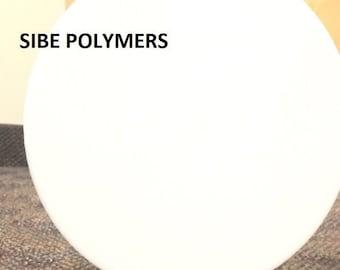 "White Opaque Acrylic Plexiglass Disc, Diameter 8"" - 1/8"" Thick"