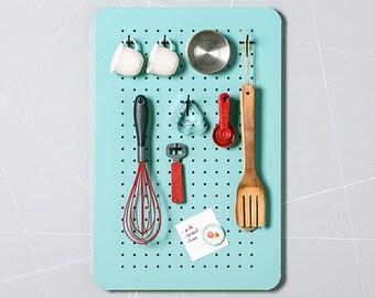 Kitchen organizer - Kitchen decor - Pegboard - Utensil holder - Utensil rack - Wall organizer - Wall storage