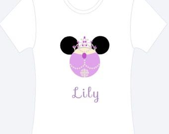 Princess Sofia Inspired Ears Personalized Shirt, Princess Sofia Shirt, Personalized Shirt, Disney Shirt, Custom Shirt