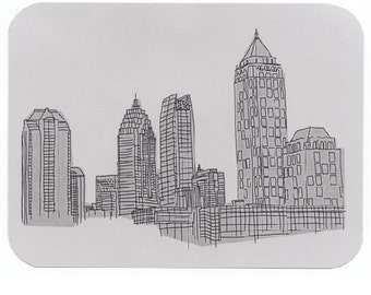 Atlanta Postcards, Drawings of Landmarks, ATL Buildings, Souvenir
