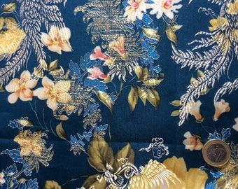 Silk brocade, asian patterned