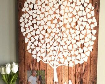 Wedding Guest Book - Rustic Wedding Guestbook - Custom Guest Book - Alternative Wood Wedding Guestbook