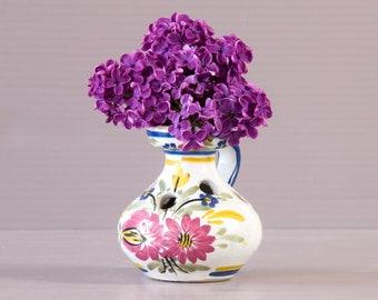 Small Keraluc Vase | Quimper Keraluc Vase | Breton Art Pottery | Sandstone Vase | Britany FolkArt Vase | G4 Pattern | Small Breton Vase |