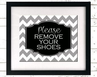 Please Remove Your Shoes Sign - Lose the Shoes Printable - Take Off Shoes Wall Art - Remove Shoes Sign - Shoes Off - Instant Download