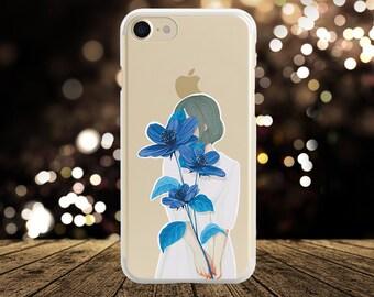 Floral iPhone Case iPhone 6 Case iphone 8 Plus Case Floral Samsung S9 Plus Case Silicone iPhone Case Samsung note 8 case Clear iPhone X Case