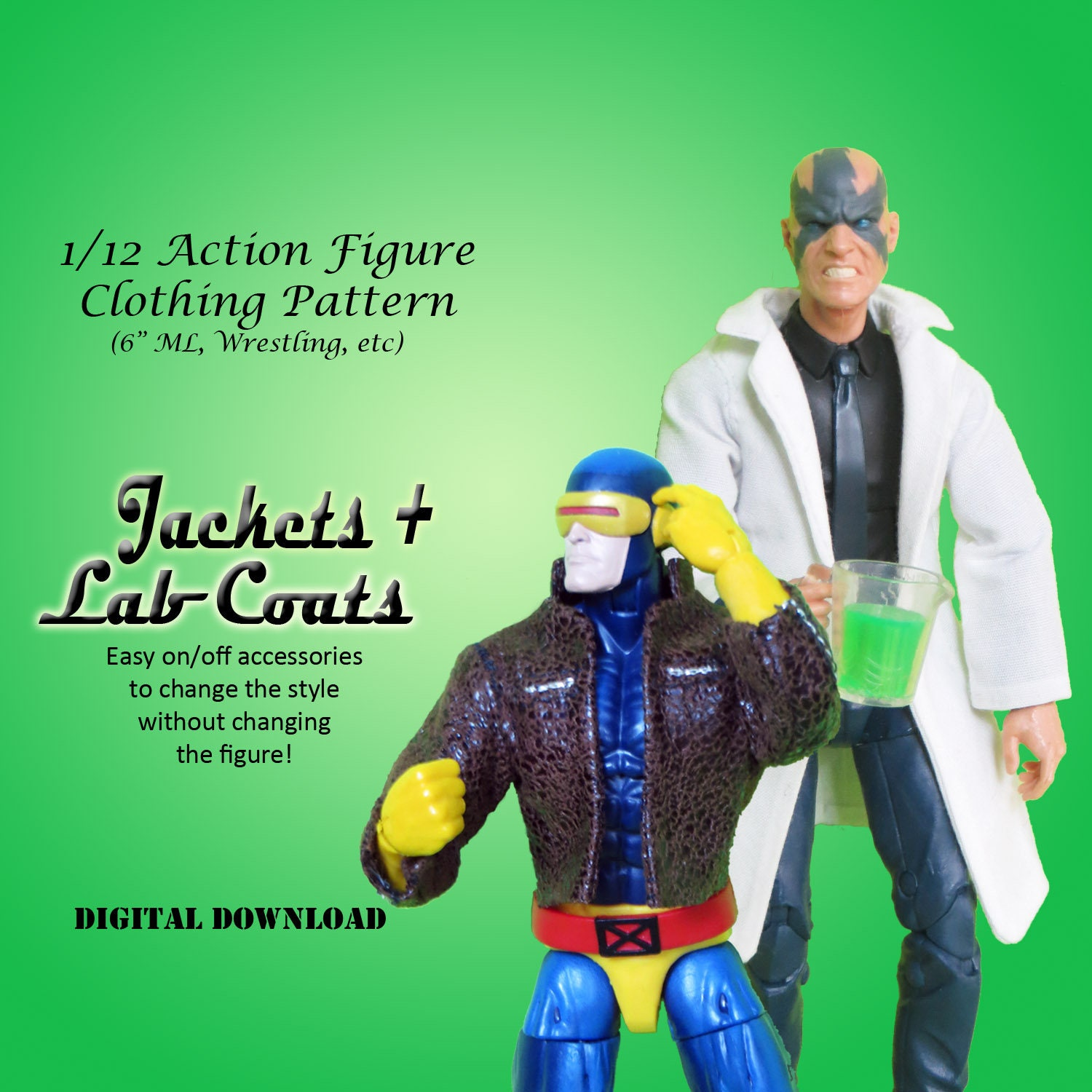 112 leather jackets and lab coats sewing pattern for 6 zoom jeuxipadfo Gallery