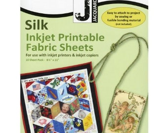 Silk Inkjet Printable Fabric Sheets by Jacquard Products: 10 sheets