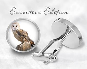 Owl Cufflinks - Owl Cuff Links -Birds of Prey Cufflink (Pair) Lifetime Guarantee (S1147)