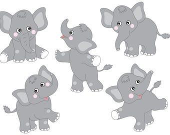 Elephants Clipart - Digital Vector Safari, Elephant, Animal, Elephant, Elephants Clip Art
