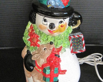 Snowman Night Light Lamp