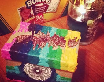 Melted Crayon Sacred Geometry Box