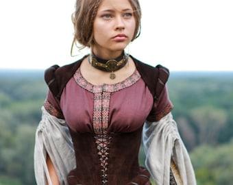 "16% DISCOUNT! Medieval Corset ""Archeress""; fairy corset; ren corset; elven corset; boned corset"